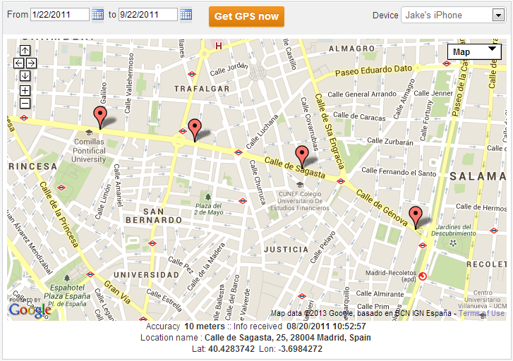 Features of Free GPS Tracker